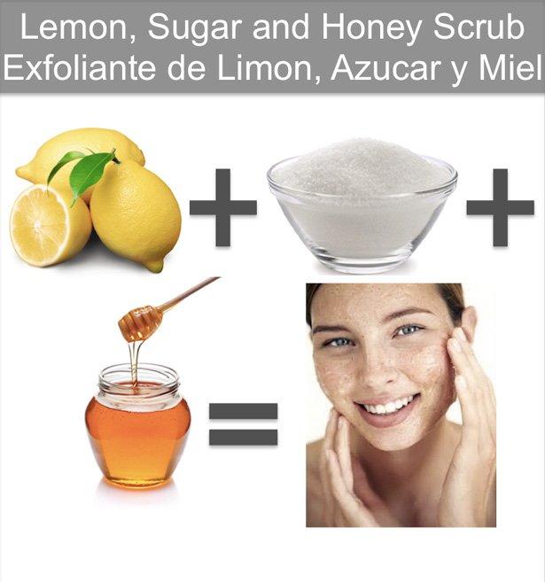 Exfoliante Natural Limon Azucar Y Miel Para La Piel Tip Para Hacer En Casa